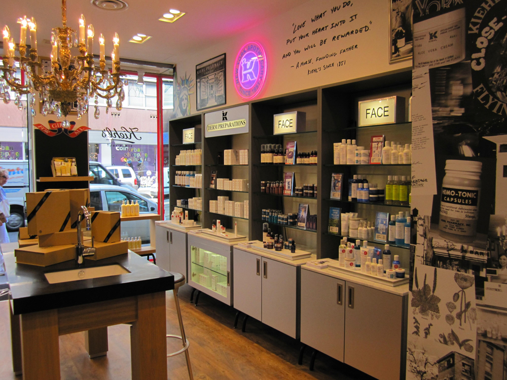 Kiehl's interno_Boutique_CorsoVercelli
