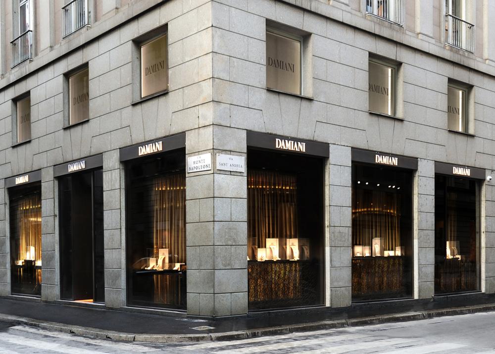 Boutique Damiani Montenapoleone esterno
