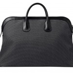 Valextra_K Val Travel Bag Fabric and calfskin black