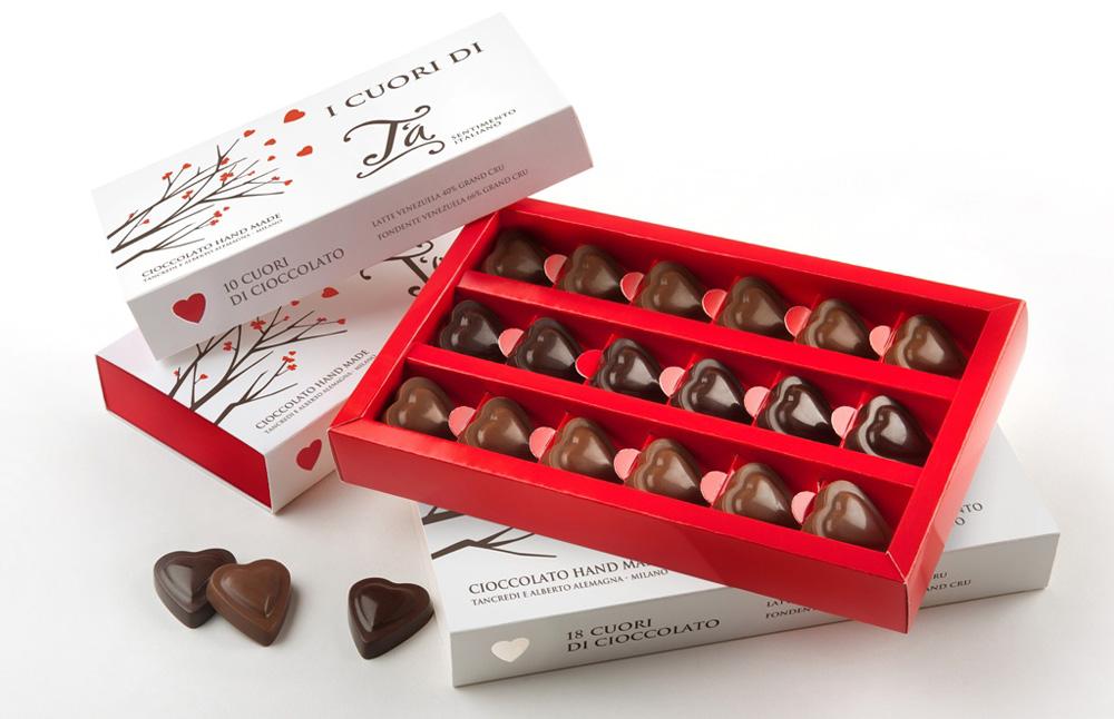 Cuori di cioccolato T'a Sentimento Italiano