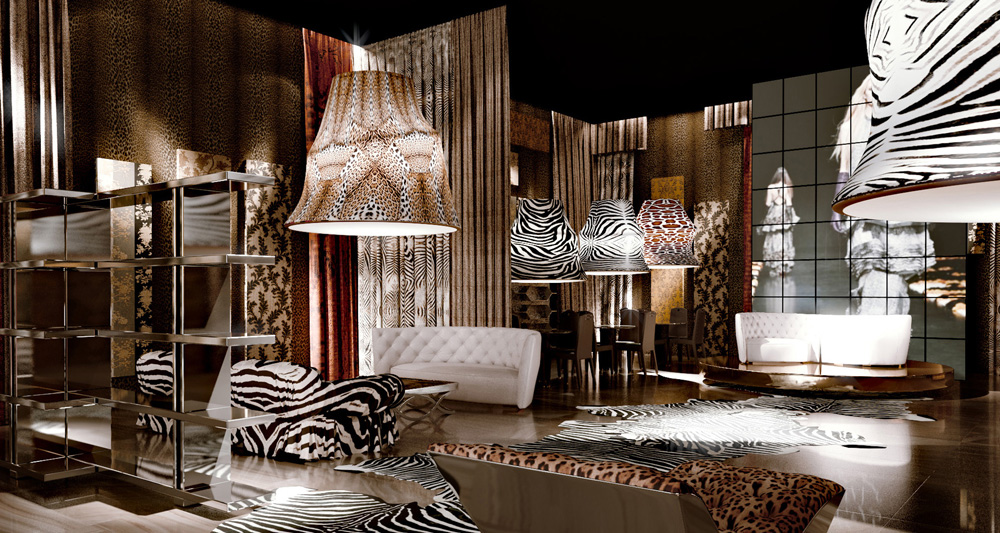 Roberto Cavalli Home - Interiors - Rendering Ambiente