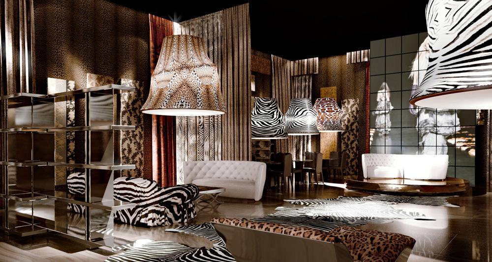 Roberto Cavalli Home - Interiors - Rendering Ambiente