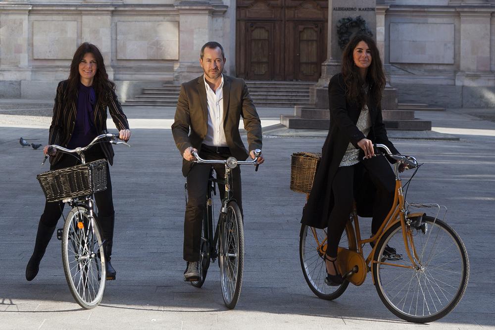 Stefania Pisa, Luca Bombassei presidente di Sktsch e Chiara Pisa