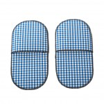 Pijama slippers vichy blue