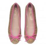PrettyBallerinas S/S 2013 Rita cork with hot pink trim