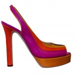 Rizieri - Open toe sling back