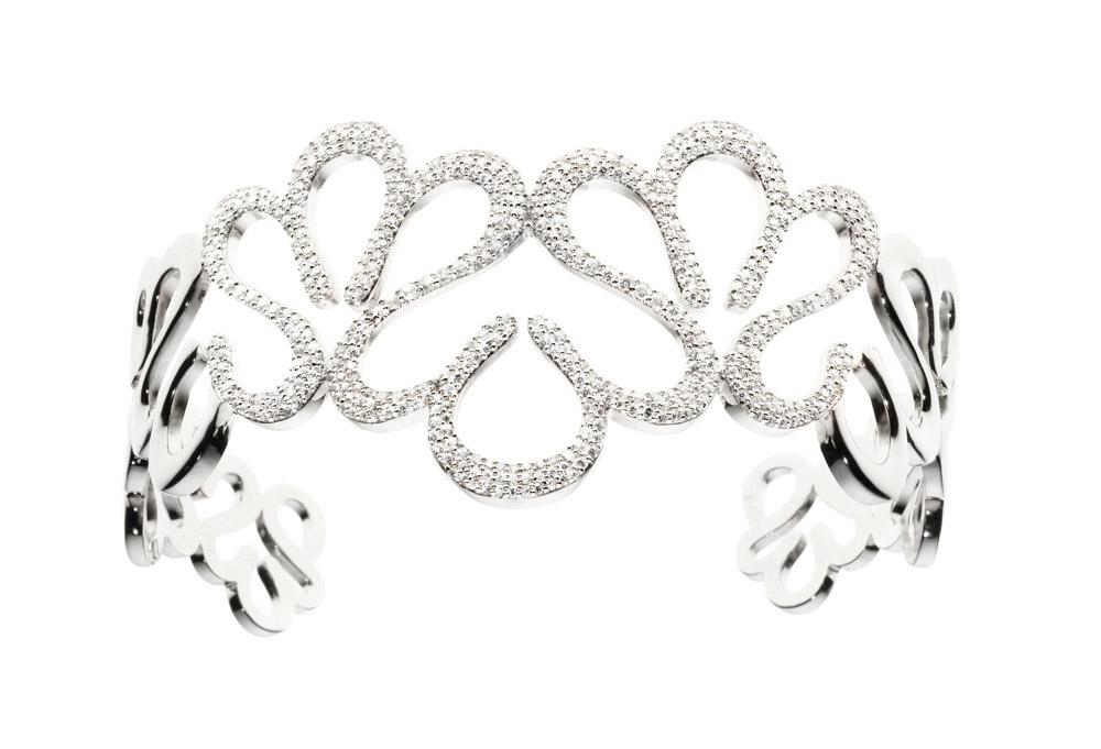 Stroili Oro bracciale argento rodiato zirconi