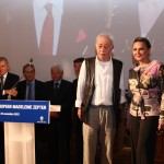 Madlena Zepter con il vincitore Vassilis Alexakis