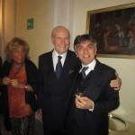 Roma - Umberto Veronesi con Vincenzo Salemme