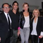 Ennio Silla, Filippo Magnini, Federica Pellegrini e Monica Ciabattini (Photo by Stefania D'Alessandro/Getty Images for Le Silla)
