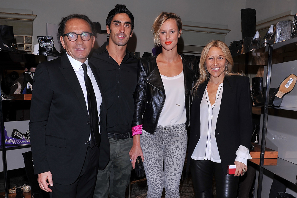 Ennio Silla, Filippo Magnini, Federica Pellegrini e Monica Ciabattini (Photo by Stefania D'Alessandro/Getty Images for Le Silla)