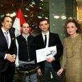 Philip Zepter, Luca Zenobi, Gianmarco Brunacci, Madlena Zepter 2