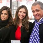 Da sx. Elisabetta Canalis, Valentina Micchetti e Michele Massa