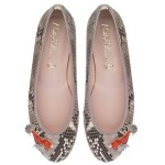 Rosario snake print with coral Japanese fish - pair