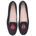 Faye blue suede red anchor - pair
