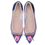 Bip Ling Collection - Ella electric blue with pink Mooch and mesh - pair