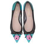Bip Ling Collection - Ella metallic aqua with pink Mooch and black mesh - pair