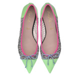 Bip Ling Collection - Ella mint patent and silver glitter mesh with pink and blue trim - pair