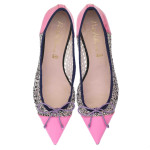 Bip Ling Collection - Ella pink patent and silver glitter mesh with navy trim - pair