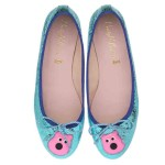 Bip Ling Collection - Marilyn aqua metallic with pink Mooch - pair