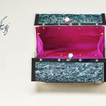 Vitussi- Bauletto con trama di fico d'India naturale color ottanio (2) euro 880