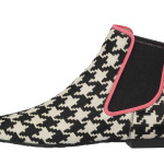 Lena dogtooth check poni fuchsia trim - side_PVP 299