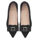 PRETTY LOAFERS_Ella black jewelled bow - pair