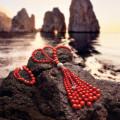 CHANTECLER Sautoir Cherie corallo faraglioni