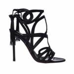 Sandalo in pelle nera