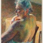 Boccioni - Nudo di spalle (Controluce), 1909, olio su tela, cm 60X55,2, MartTrento e Rovereto