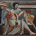 De Chirico - Due figure mitologiche (Nus antiques, Composizione mitologica), 1927, olio su tela, cm 130x127, Mart Trento e Rovereto