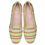PRETTY LOAFERS_Faye beach towel aqua lemon and fuchsia - pair