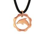 ciondolo delfino oro rosaHR