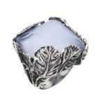 Anello piume doublette sky in argento