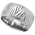 8802 bangle zebra grande in argento