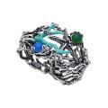 8821 bangle reef  in argento e agata