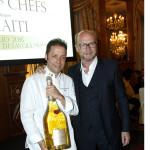 Paul Haggis con Chef Fabrizio Boca