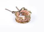 SV bracelet Sandrine Capri - intrecciato rosa e bianco con medagliette oro euro 79
