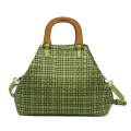 a.testoni ss15  beach bag in vacchetta intrecciata color celadon