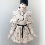 Massimo Crivelli  Collection Couture ART FLOWER Trenchcoat