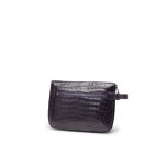 Clutch bag in coccodrillo color uva- PER LUI
