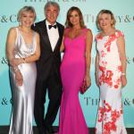 Florence Rollet, Massimo Giletti, Cristina Parodi con gioielli Tiffany & Co. e Raffaella Banchero