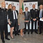 Gen. Coppola, Laura Morino, Giorgio e Laura Fossa, Prefetto A. Marangoni, Gen. Caputo, Adriano Teso