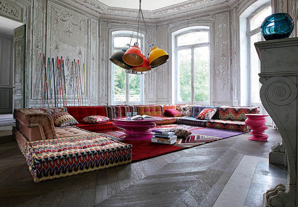 roche bobois shopping milano roma. Black Bedroom Furniture Sets. Home Design Ideas