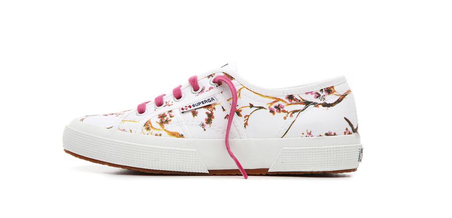 SUPERGA Sneakers donna fiori/blu Muy Barato GTN2fj