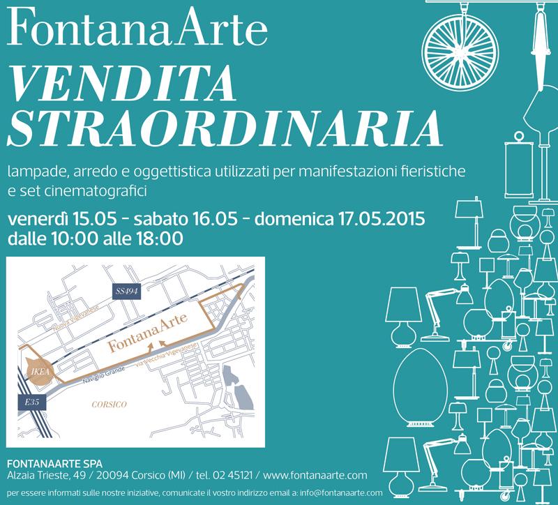 Vendita Straordinaria FontanaArte da venerdì 15 giugno - Shopping ...