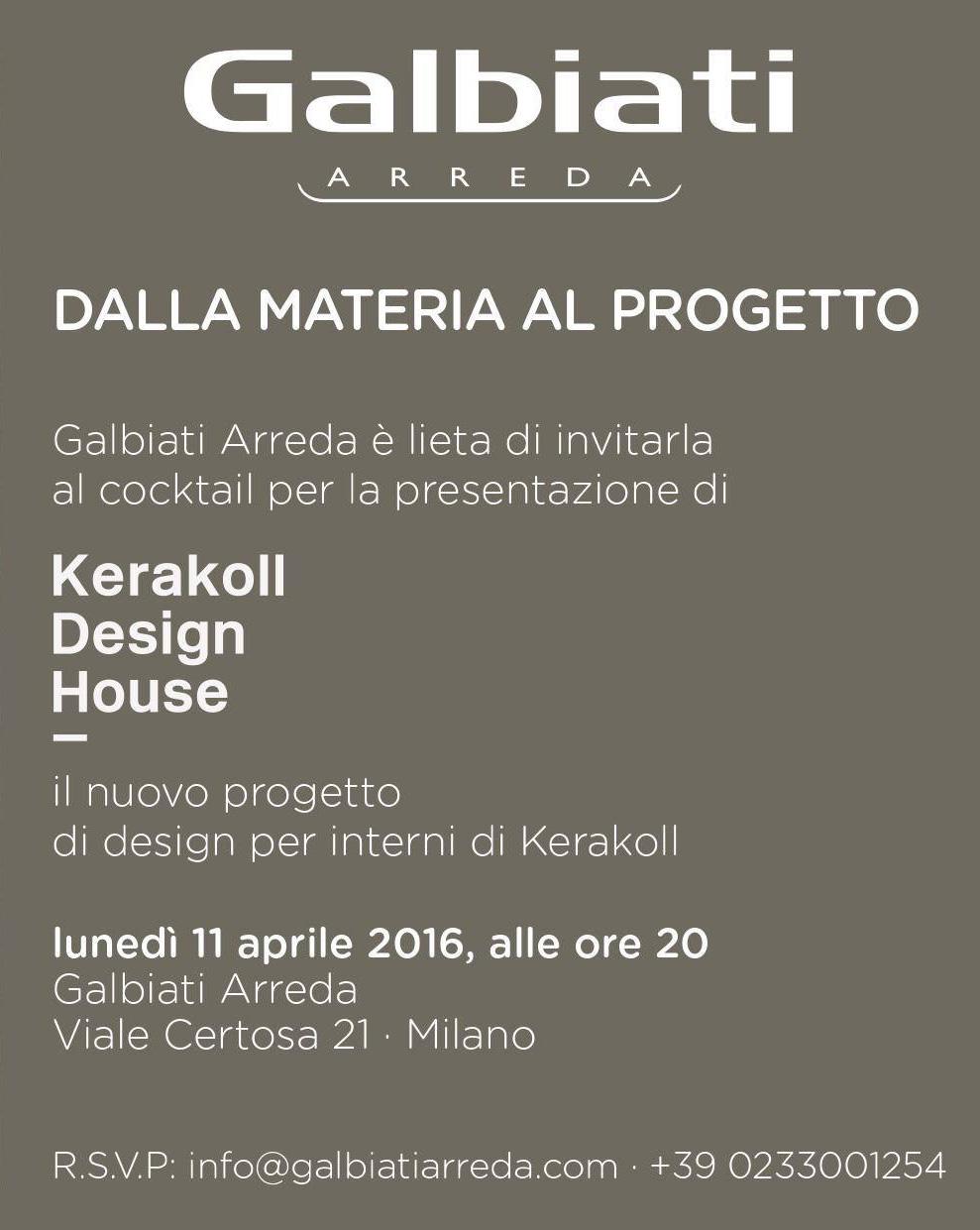 Galbiati arreda presenta il nuovo progetto di interior di for Arreda durante